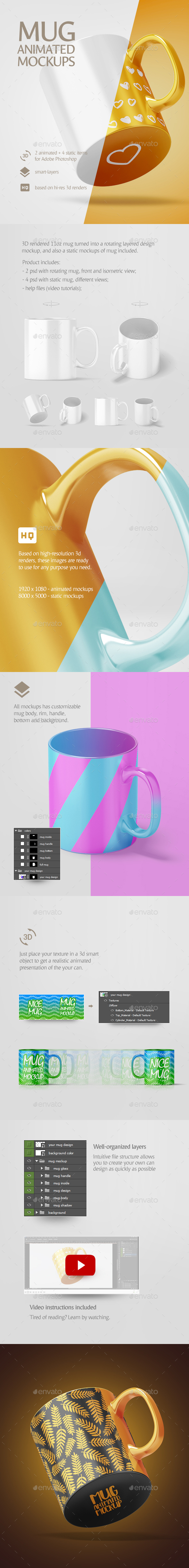 Mug Animated Mockup - Stationery Print