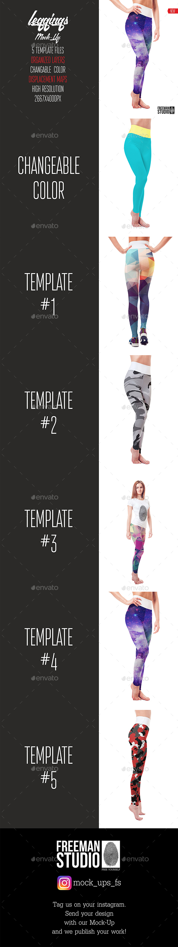 Leggings Mock-Up - Miscellaneous Apparel