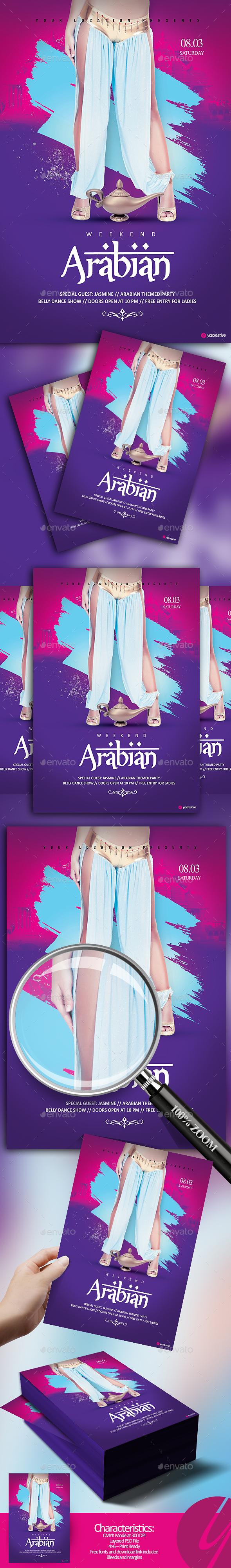 Arabian Weekend Flyer - Clubs & Parties Events