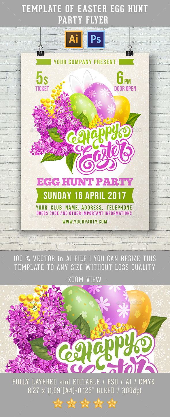 Easter Flyer - Clubs & Parties Events