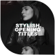 Stylish Opening Titles I Slideshow - VideoHive Item for Sale