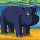 Little Blue Hippo Wakes Up and Yawns - VideoHive Item for Sale