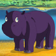 Little Violet Hippo Wakes Up and Yawns - VideoHive Item for Sale