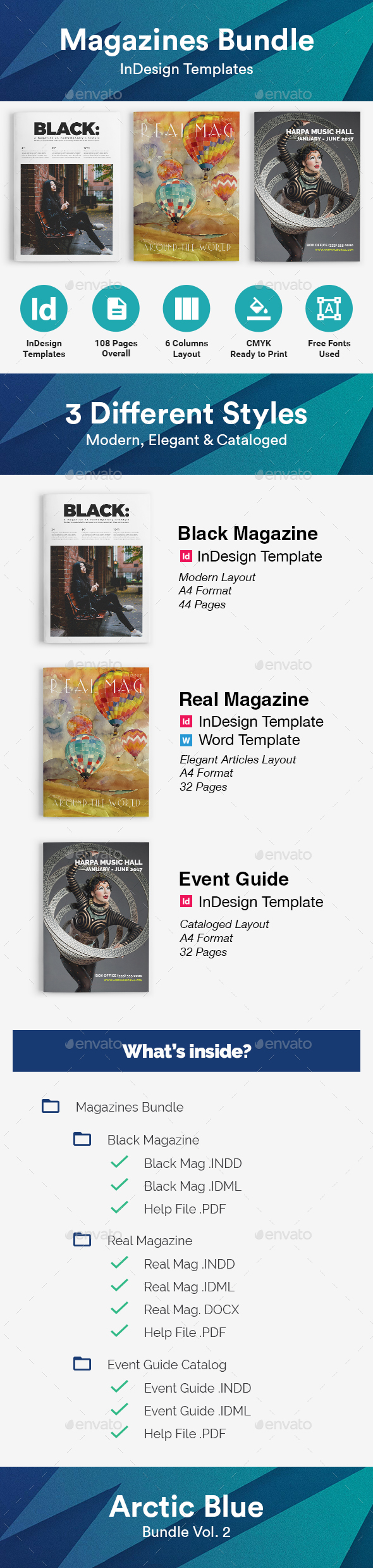 Magazines Bundle - Magazines Print Templates