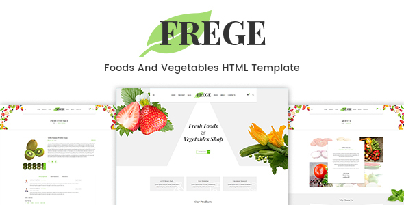 Frege - Foods And Vegetables HTML Template - Food Retail