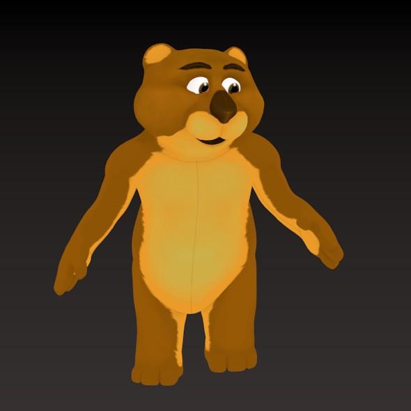 Cartoon Big Bear - 3DOcean Item for Sale