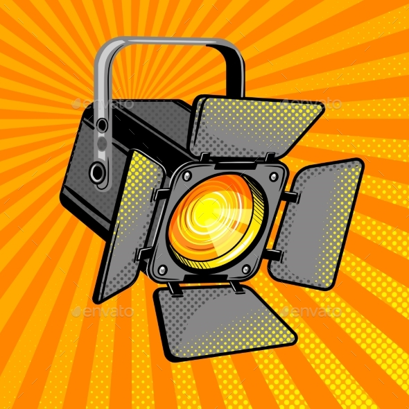 Movie Light Comic Book Style - Man-made Objects Objects