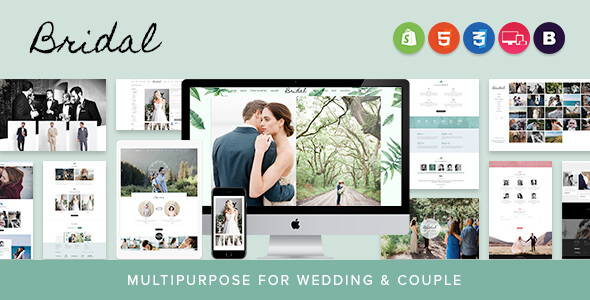 Bridal - Sectioned Responsive Shopify Theme | Multipurpose for Wedding & Couple - Shopify eCommerce