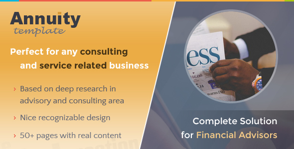 Annuity – Financial Advisory & Consulting Template