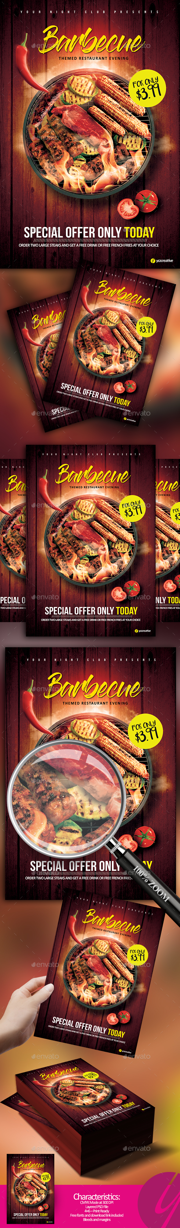 Barbecue Restaurant Flyer - Restaurant Flyers