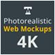 Photo-realistic Responsive Web Mockups 4K - GraphicRiver Item for Sale