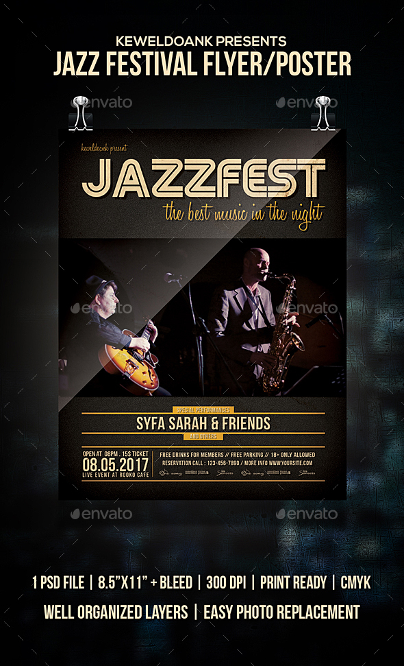 Jazz Festivsl Flyer / Poster - Events Flyers
