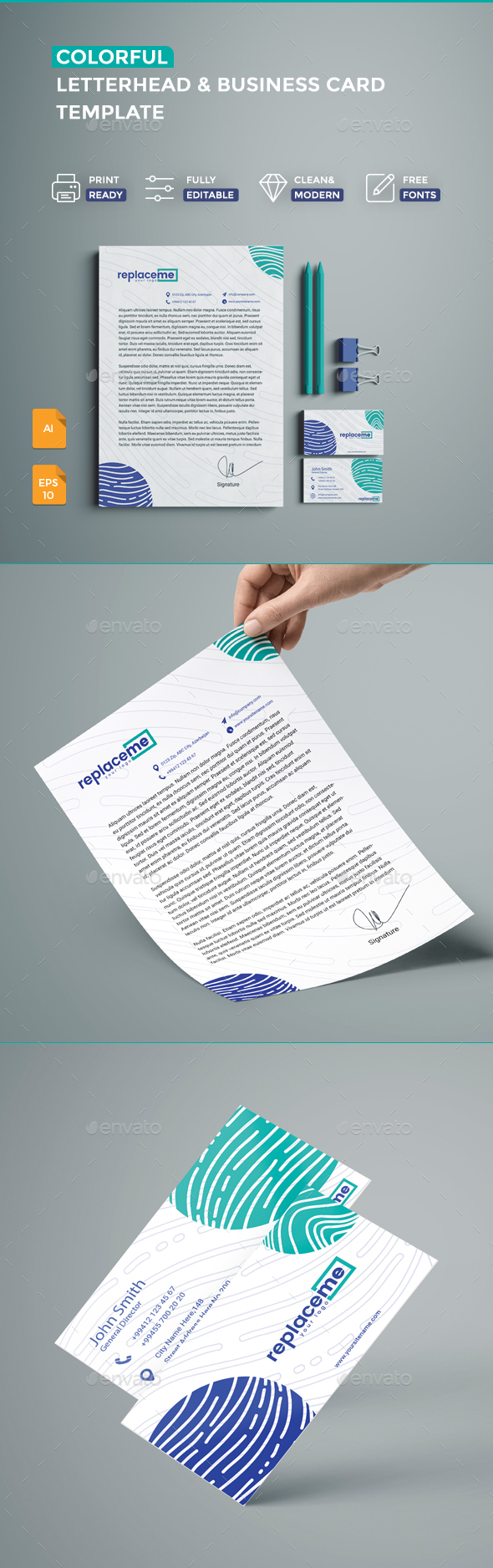 Creative Business Card & Letterhead - Creative Business Cards