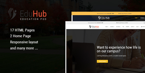 Edu Hub - College & Education HTML Template - Corporate Site Templates