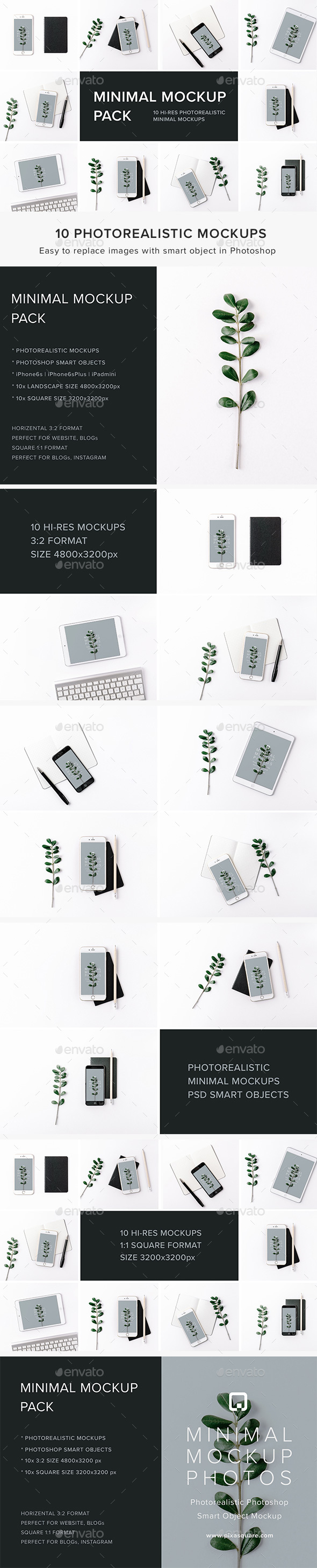 Minimal Mockup Pack Photorealistic - Product Mock-Ups Graphics