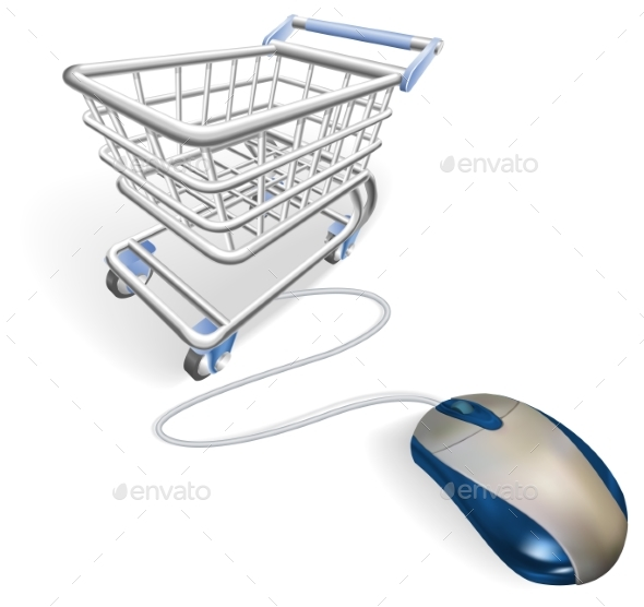 Online Internet Shopping Concept - Man-made Objects Objects