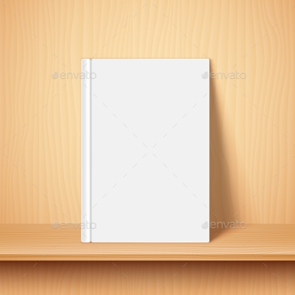 Empty White Book Template - Man-made Objects Objects