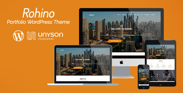 Rohino – Portfolio WordPress Theme