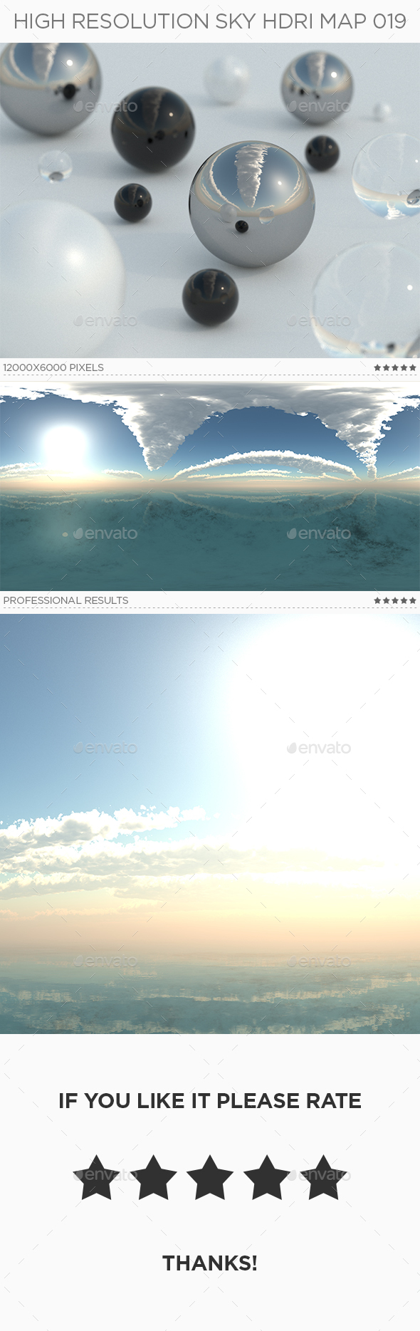 High Resolution Sky HDRi Map 019 - 3DOcean Item for Sale