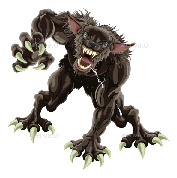 Werewolf Illustration - Monsters Characters