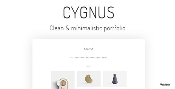 Cygnus – Clean and minimalistic portfolio theme Free Download