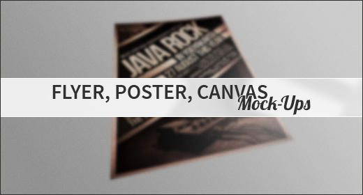 Flyer, Poster, Canvas Mock-Ups