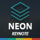 Neon Keynote Template - GraphicRiver Item for Sale