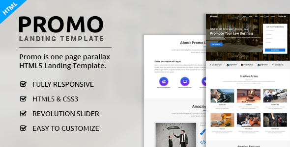 Promo - Multipurpose Landing Page - Landing Pages Marketing