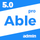 Able pro Responsive Bootstrap 4 Admin Template + Angular 1 Version Nulled