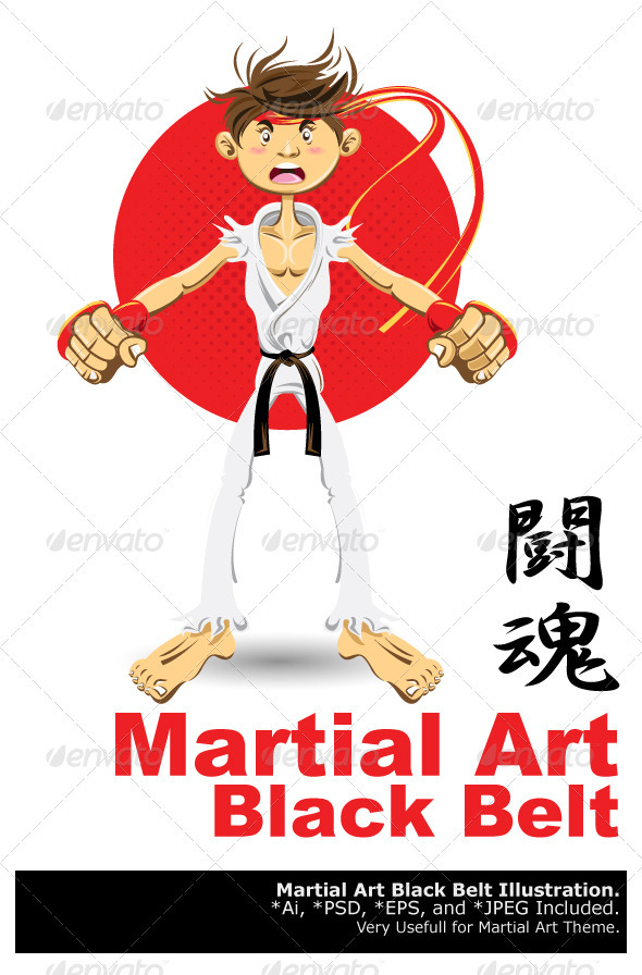 martial arts black beltbranca_escova | graphicriver, Presentation templates