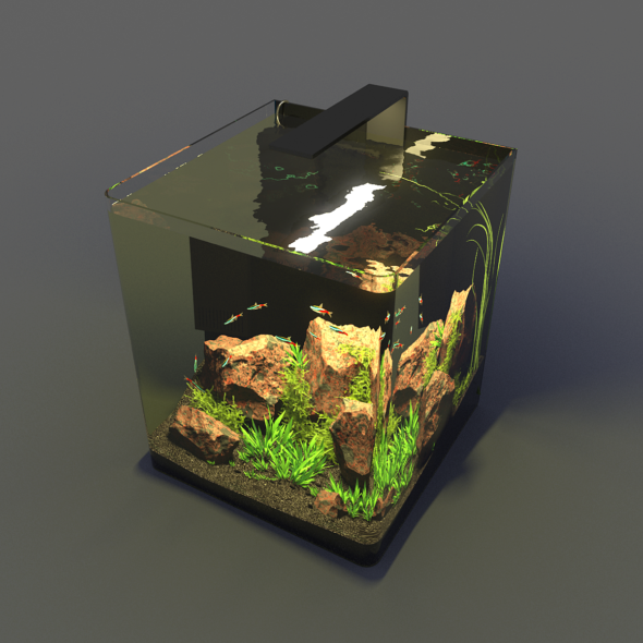 Aquarium Nano - 3DOcean Item for Sale