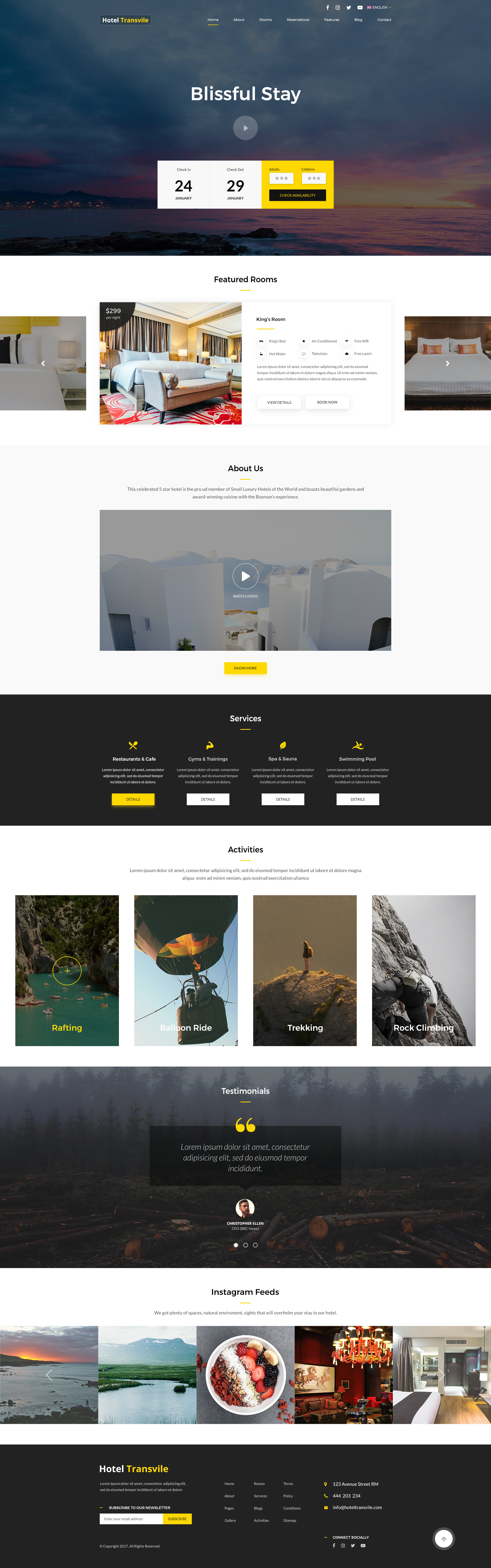 Transvile Hotel PSD Template by sandystha   ThemeForest