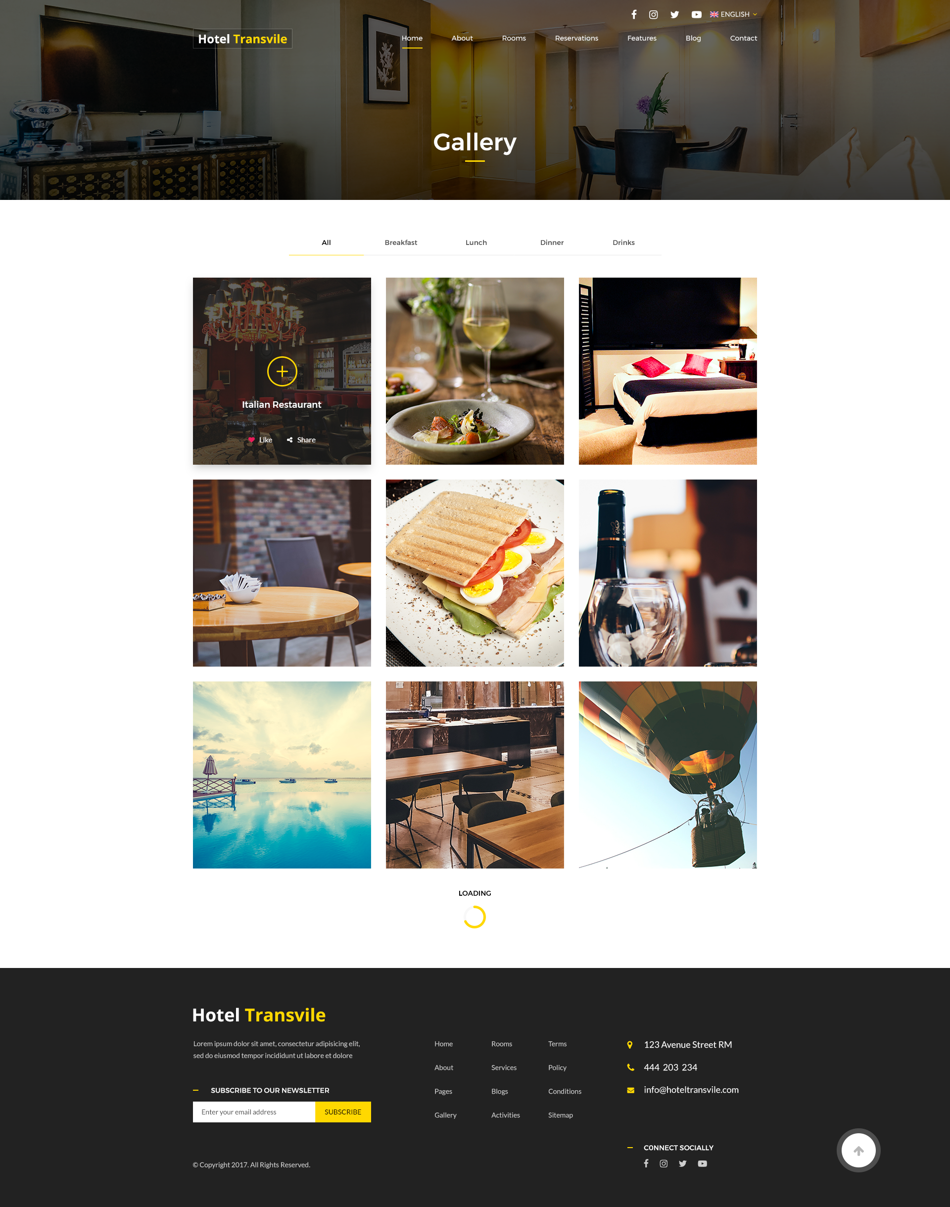 Transvile Hotel PSD Template by protechthemes | ThemeForest