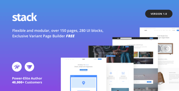 Stack – Multi-Purpose WordPress Theme with Variant Page Builder