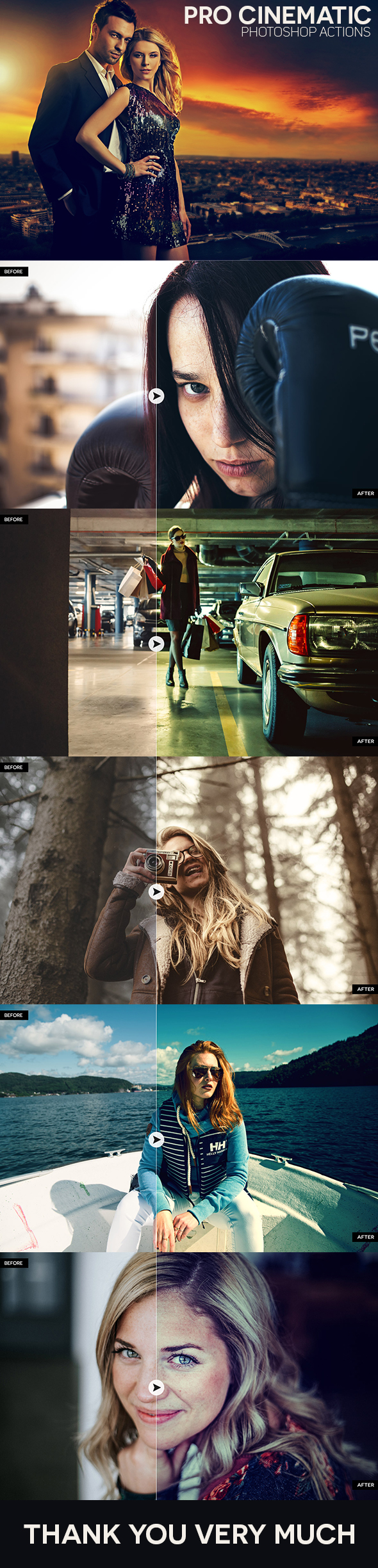 Pro Cinematic Photoshop Actions - Photo Effects Actions