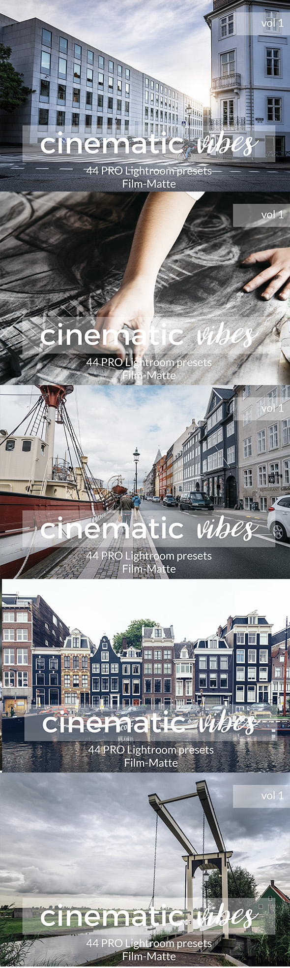 Cinematic Vibes Lightroom Presets. Vol 1 - Film Lightroom Presets