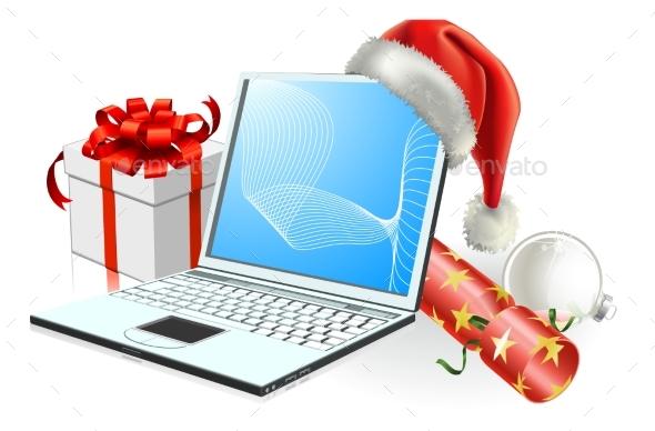 Christmas Laptop Computer - Christmas Seasons/Holidays