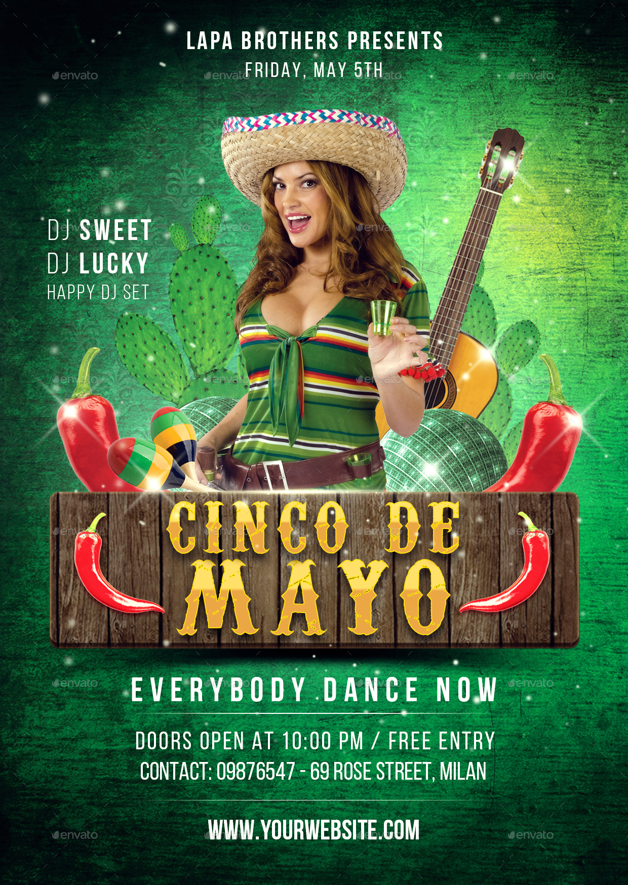 cinco de mayo flyer template by lapabrothers graphicriver