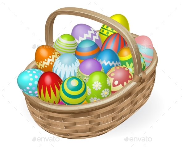 Illustration of Painted Easter Eggs - Miscellaneous Seasons/Holidays