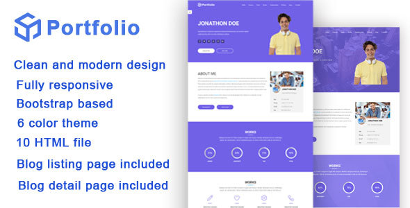 Portfolio / Resume Responsive Bootstrap Template