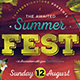 Summer Festival Flyer Template - GraphicRiver Item for Sale