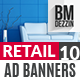Retail 10 Banner Ads - GraphicRiver Item for Sale