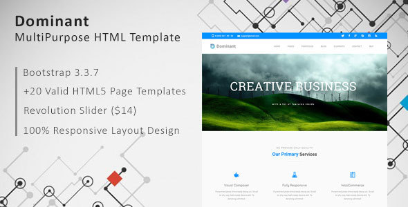 Dominant – MultiPurpose HTML Template