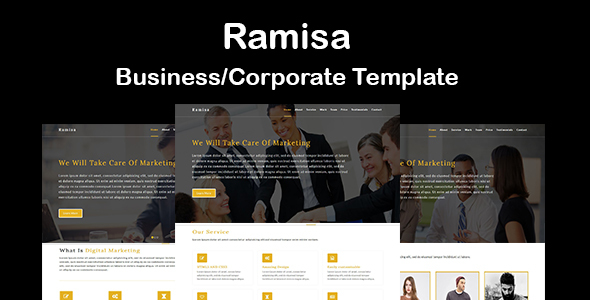 Ramisa-Business / Corporate HTML5 Template - Corporate Site Templates