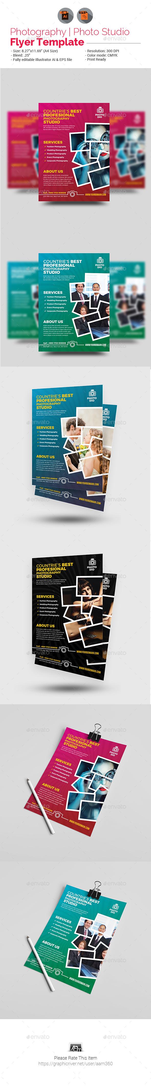 Photo Studio Flyer - Flyers Print Templates