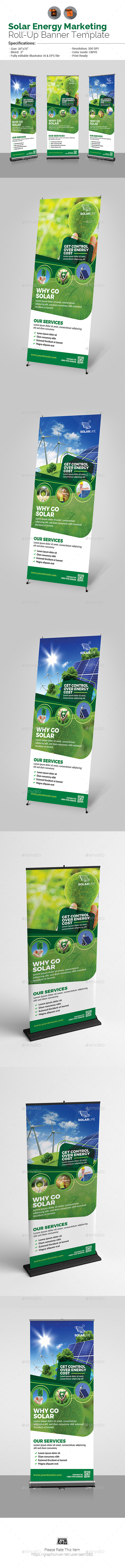 Solar Energy Roll-Up Banner - Signage Print Templates