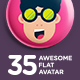 35 Flat Avatar - GraphicRiver Item for Sale