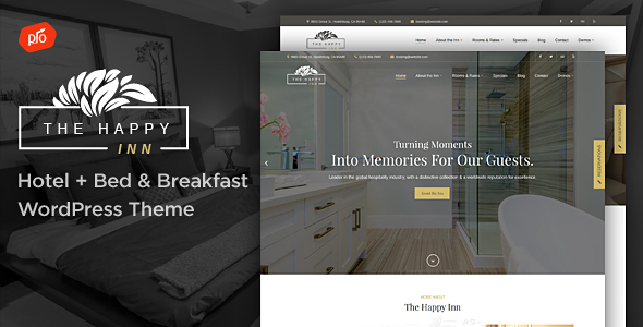 The Happy Inn - Hotel + Bed & Breakfast Theme - Travel Retail