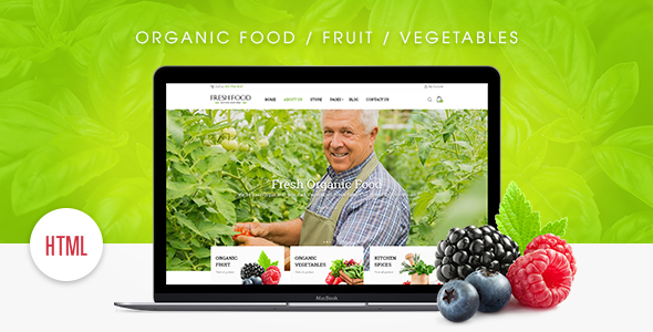 Fresh Food – Organic Food/Fruit/Vegetables eCommerce HTML Template