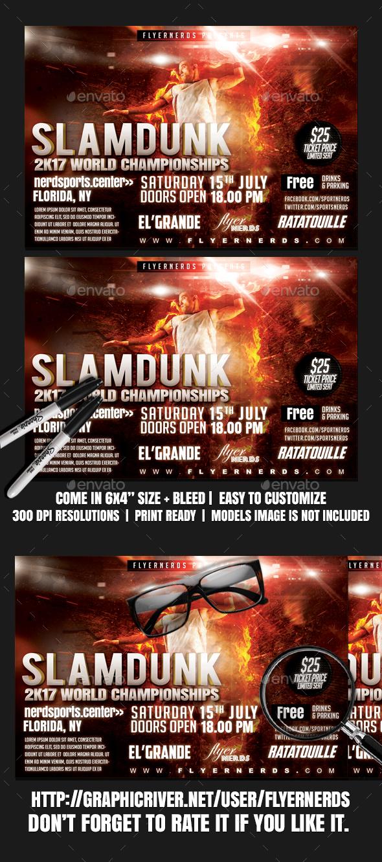 SlamDunk World Championships Sports Flyer - Sports Events